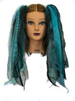SeaBreeze Gothic Ribbon Hair Falls by Dreadful Falls
