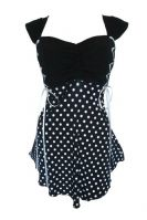 Plus Size Cinch Corset Top in Polka Dot