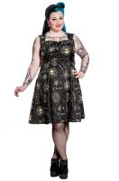 Spin Doctor Plus Size Pentagram and Skull Gothic Tabitha Dress