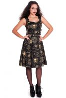 Spin Doctor Pentagram and Skull Gothic Tabitha Dress