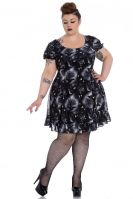 Spin Doctor Alchemy Plus Size Ash Crow Skull Mini Dress