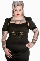 be789af7e19cf Spin Doctor Plus Size Gothic Black Steampunk Lorena Top