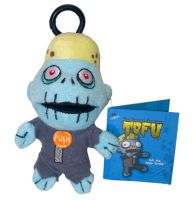 Tofu the Vegan Zombie Monster Mouth Mini Plush Clip On