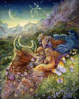Taurus Zodiac Collector's Card by Josephine Wall