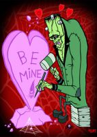 Be Mine Toxic Toons Spooky Greeting Card