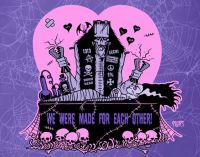 Valentine's We Were Made for Eachother Toxic Toons Spooky Greeting Card
