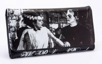 Universal Monsters Black PVC Frankenstein and Bride Wallet