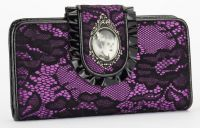 Universal Monsters Bride of Frankenstein Black & Purple Lace PVC Wallet