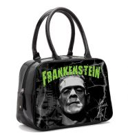Black and Green Universal Monsters Frankenstein Bowler Purse Handbag