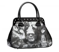 Universal Monsters Black and White Monster Collage Handbag