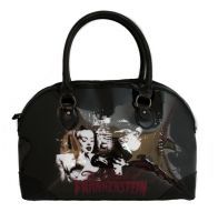 Rock Rebel Black Vegan Vinyl Bride Of Frankenstein Purse Handbag