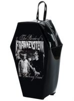 Universal Monsters We Belong Dead Frankenstein & Bride PVC Coffin Backpack by Rock Rebel