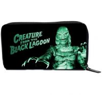 Universal Monsters Black and Green Creature From the Black Lagoon PVC Vinyl Wallet