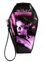 Universal Monsters Pink & Black Bride of Frankenstein PVC Vinyl Coffin Wallet
