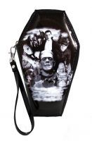 Universal Monsters Monster Collage PVC Vinyl Coffin Wallet