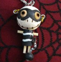 Jailbird with Ball and Chain Woody Keychain