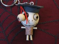 Eye Popping Out Graduate Hat Woody Keychain