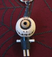 One Eyed Cyclops Black Punk Woody Keychain