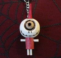 One Eyed Cyclops Red Punk Woody Keychain