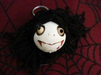 Vampire Head Dangle Woody Keychain Medium
