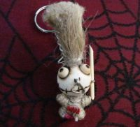 Tribal Tiki Man Woody Keychain
