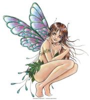 Leaves Fairy Large Sticker