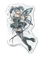 Dominatrix Fairy Die Cut Magnet